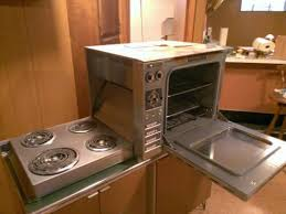 1960 countertop height hotpoint oven with hideaway fold down electric range