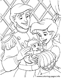 Small Picture eric and ariel with their baby little mermaid sfeba Coloring pages