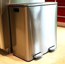 Wonderful 30 Gallon Trash Can Walmart Smith Extra Large Step Trash Can Combo  Stainless Steel Slow Close