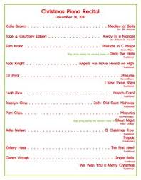 Christmas Program Templates Recital Template Magdalene Project Org