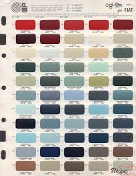 Fiat 500 Colour Chart Fiat Paint Chart Color Reference