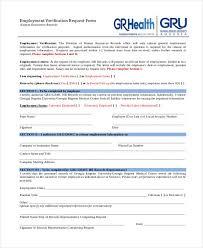 Verification Form Templates