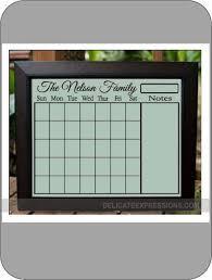 dry erase wall calendar personalized family calendar blank calendar grid for a 16x20 and 24x36 frame dry erase family calendar erasable