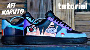 Custom Naruto & Sasuke AF1! - YouTube