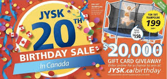 Small Picture JYSK Canada 20th Birthday Sale Save up to 54 off Bed Bath and