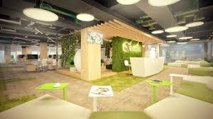office reception interior. Environmental Friendly Concept Integrated Into Office Interiors Is An In-thing For Modern Contemporary Interior Design. Reception I