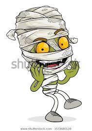 Стоковая векторная графика «Cartoon <b>Funny Scary</b> Green ...