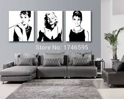 5 Pcs HD MARILYN MONROE WALL CANVAS  WwwgobazzolacomMarilyn Monroe Living Room Decor