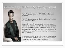 a angelou power point childhood family background a angelou