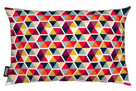<b>Colorful</b> Umbrellas <b>Geometric Pattern Cushion</b> | JUNIQE