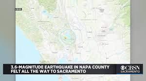 3.6-Magnitude Earthquake In Napa County ...