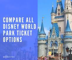Disney World Ticket Price Chart Compare All Disney World Park Tickets Disney In 2019