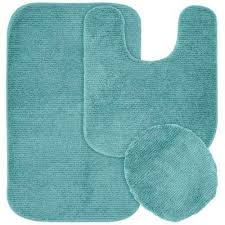washable bathroom 3 piece rug