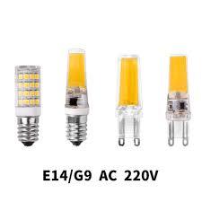 E14 Led Light Bulb Us 1 5 G4 G9 E14 Led Lamp Bulb Dimming Lighting Ac Dc 12v 220v 3w 6w 9w Cob Smd Replace Halogen Lights Spotlight Bombillas Chandelier In Led Bulbs