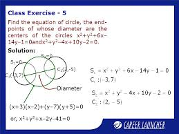 class exercise 5 find the equation of circle the end points of whose