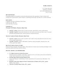 High School Graduate Resume Template Extraordinary Resume Examples High School Graduate No Experience 48 Sample