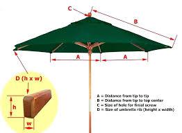 9ft umbrella replacement canopy 6 ribs umbrella replacement canopy 6 ribs image to enlarge 8 9ft umbrella replacement canopy