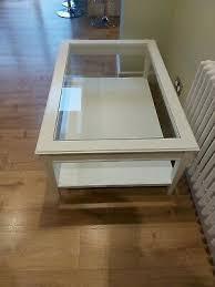 ikea hemnes white glass coffee table