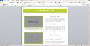 Microsoft Word 2010 Newsletter Templates Hatch Urbanskript Co
