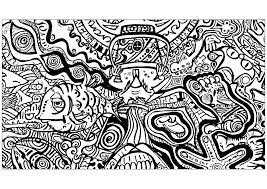 Psychedelic Coloring Pages Printable Stunning Decoration For Adults