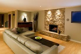 Custom Wall Unit With Electric Fireplace For A Condo Living Room Large Electric Fireplace Insert