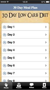 30 day low carb meal plan app shopper 30 day low carb diet meal plan food drink