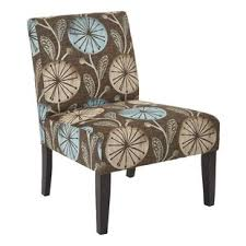 Blue Patterned Chair Enchanting Blue Patterned Chair Wayfair