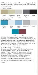 Tennsco Locker Color Chart Tennsco Lockers In Stock For