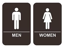 Handicap Bathroom Signs Beauteous Amazon ADA Men Women's Restroom Sign Set Brown Office Products