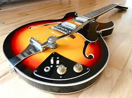 1960s trump vintage electric hollowbody guitar by teisco 1960s trump vintage electric hollowbody guitar by teisco sunburst univox