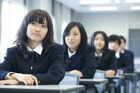 Japanesse teacher and teen boy