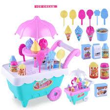 lazada top one super mini ice cream candy cart pretend play food dessert cash trolley set