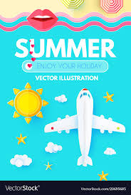 summer vacation layout design template