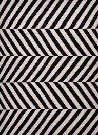 black and white geometric rug. herringbone moroccan salma wool rug black off white and geometric