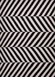 herringbone moroccan salma wool rug black off white zoom