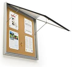 Enclosed Tackboards Rated For Outdoor Use Beauteous Exterior Bulletin Boards Model Collection