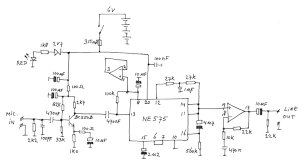 microphone preamplifier audio compressor circuit diagram of the microphone preamplifier