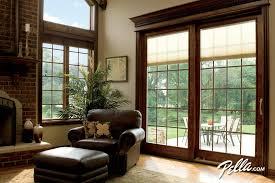 sliding patio door with built in blinds