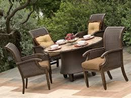 hampton bay corranade 7 piece wicker outdoor dining set wicker outdoor dining chairs australia outdoor wicker patio conversation sets wicker outdoor