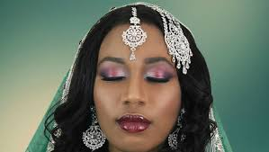burgundy silver asian bridal makeup tutorial for indian stani wedding you