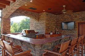 Patio Kitchen Backyard Covered Patio With Bar See Our Amazing Outdoor Kitchen