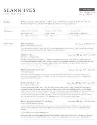 Good Resume Examples For Software Engineers Fresh Sample Profile