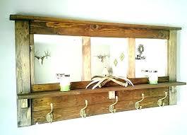 Wall Mounted Coat Rack Mirror Amazing Wall Coat Rack With Mirror Coat Hook Rack With Mirror Decor Useful