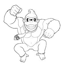 Leuk Voor Kids Donkey Kong Kleurplaat