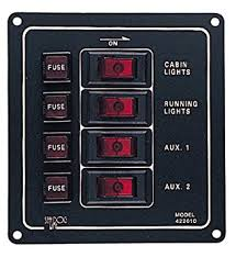 amazon com sea dog 422010 1 aluminum vertical 4 switch panel 12v switch panel wiring diagram at Sea Dog Switch Panel Wiring Diagram