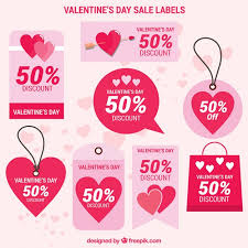 pink collection of valentines day labels free vector