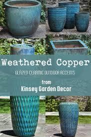 sari striped planter weathered copper