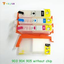 <b>vilaxh</b> 903 Refillable Ink Cartridge Replacement For <b>HP</b> 903 904 ...