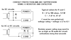 contact protection and arc suppression methods for mechanical relays mechanical relay circuits