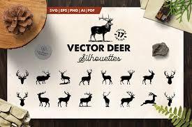 850x850 deer head svg elk head vector clip art t shirt design hunting etsy. Fox Silhouette 10 Vector Fox Pre Designed Photoshop Graphics Creative Market